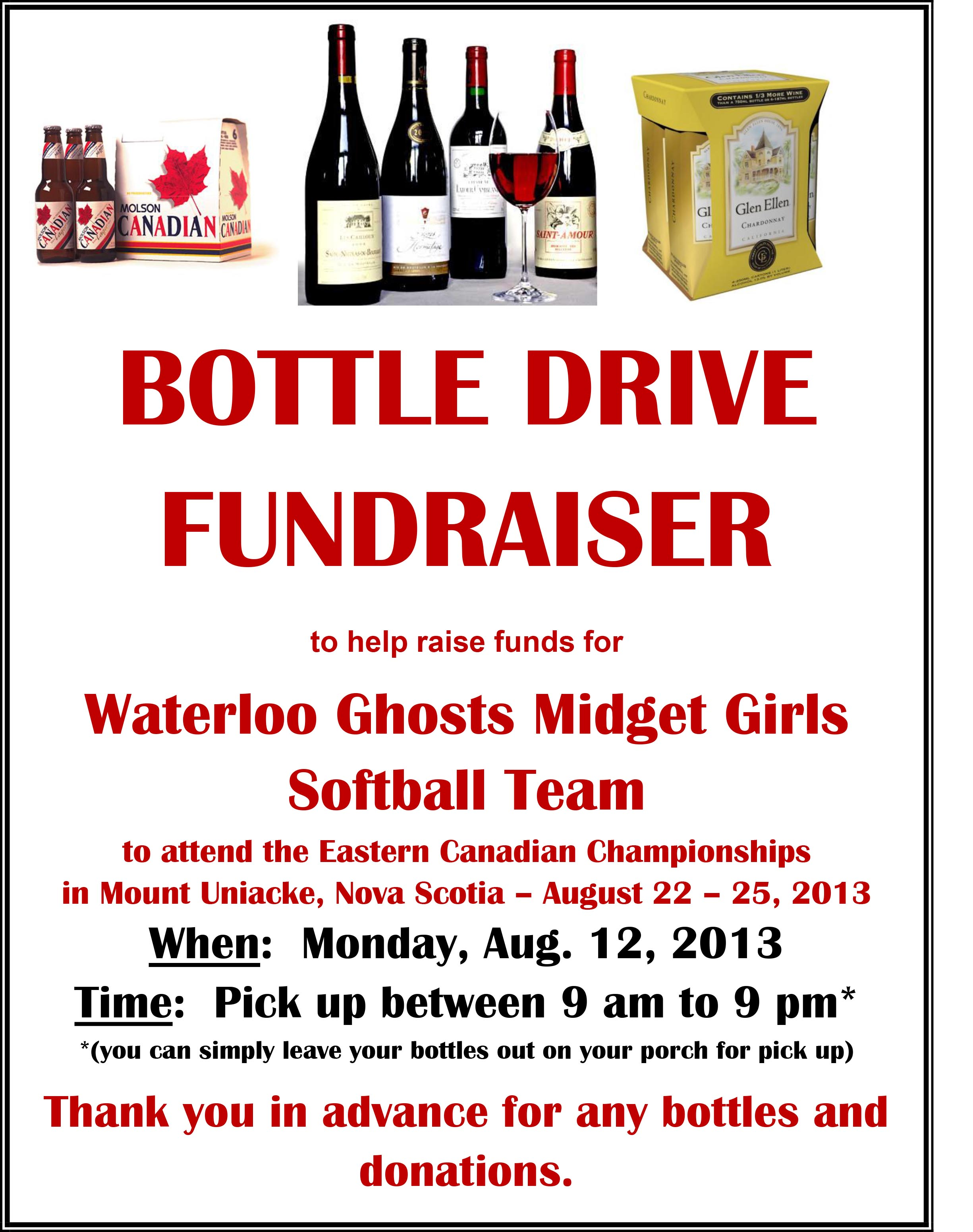 bottle drive fundraiser for waterloo ghosts midget girls softball clipart free download softball clipart images free